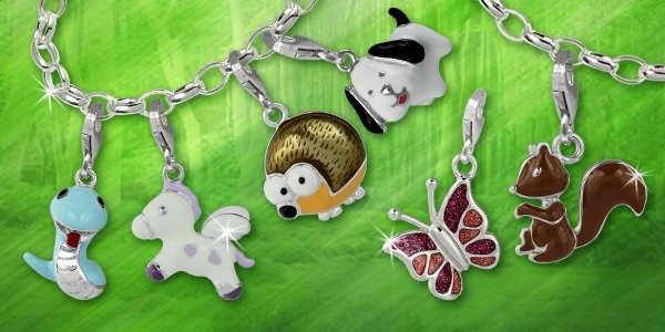Charms mit Tiermotiven